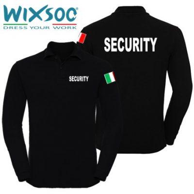 Wixsoo-Polo-Security-Maniche-Lunghe-Bandiera-Cuore-Stampa-Fronte-Retro