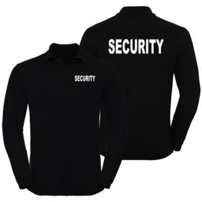 Wixsoo-Polo-Security-Maniche-Lunghe-Cuore-Stampa-Fronte-Retro