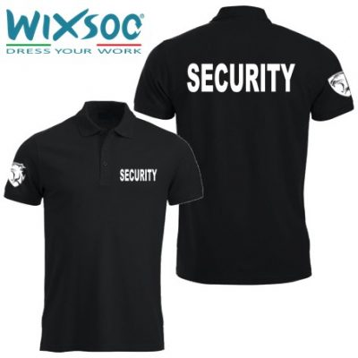 Wixsoo-Polo-Security-Mezze-Maniche-Cuore-Pantera-Stampa-Fronte-Retro