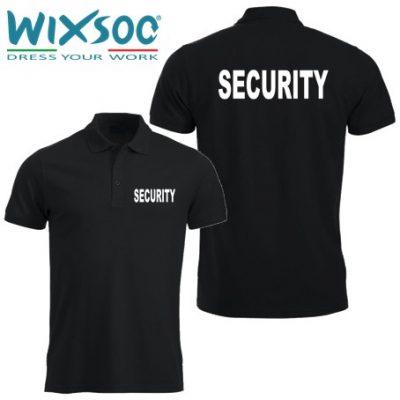 Wixsoo-Polo-Security-Mezze-Maniche-Cuore-Stampa-Fronte-Retro