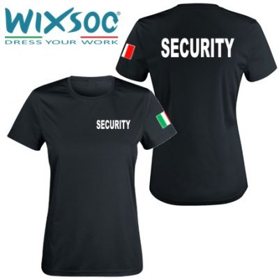 Wixsoo-T-Shirt-Security-Linea-Donna-Cuore-Bandiera-Stampa-Fronte-Retro