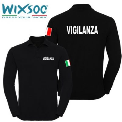 wixsoo-polo-uomo-manica-lunga-nera-bandiera-vigilanza-fr