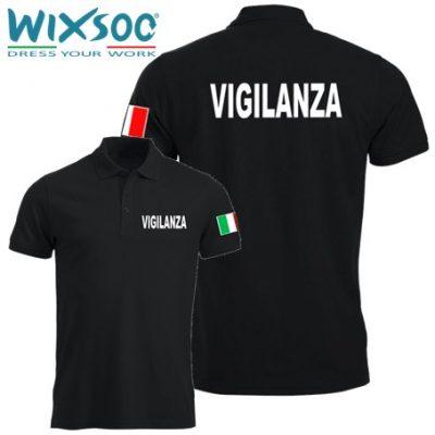 wixsoo-polo-uomo-mezza-manica-nera-bandiera-vigilanza-fr